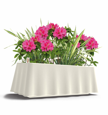 Brezza rectangular self-watering planter - White