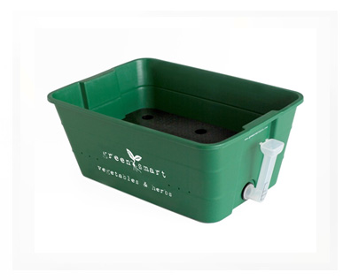 Small Green GreenSmart self-watering vegetable & herb pot